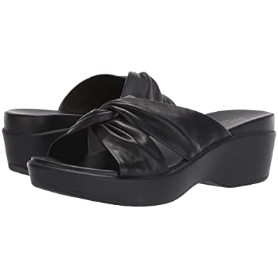 Cole Haan Aubree Grand Knotted Slide Sandal (Black Nappa/Black) Women