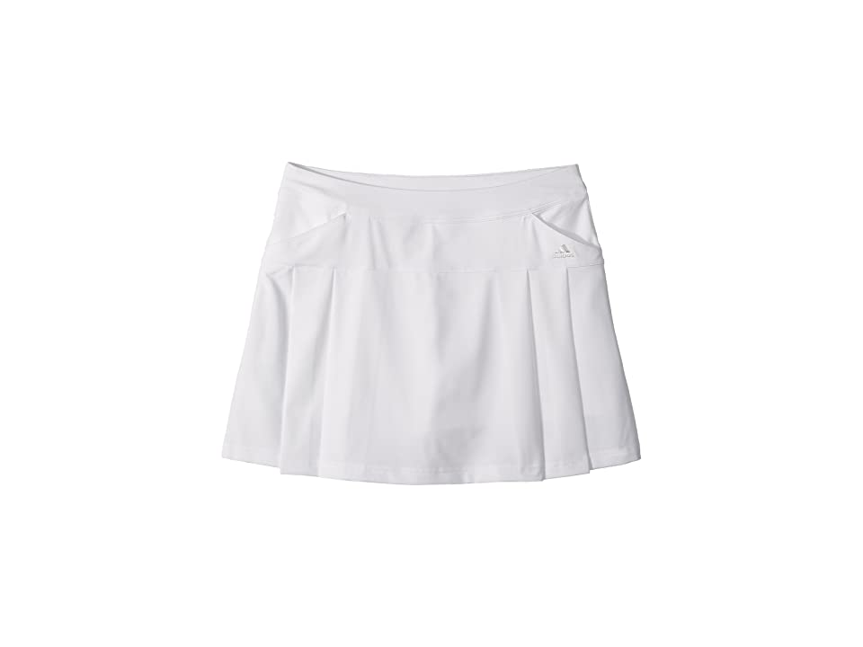 Image of adidas Golf Kids Rangewear Skort (Big Kids) (White 1) Girl's Skort