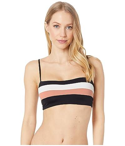L*Space Color Block Rebel Stripe Top (Black/Cream/Chestnut) Women