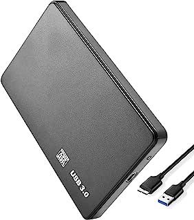 LonEasy Carcasa de Disco Duro móvil USB 3.0, Compatible con HDD SSD de 2.5 Pulgadas SATA I/II/III 7 mm 9.5 mm, 6TB MAX con...