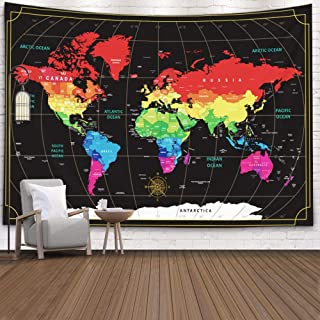 Best black wall map Reviews