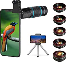 Phone Camera Lens Kit 10 in 1 for iPhone Samsung Pixel Android, 22X Telephoto Lens, 0.62X Super Wide Angle Lens&25X Macro ...
