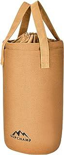 Supchamp ランタンケース 8号 帆布製 ランタン収納袋 巾着式 オイルランタン 灯油ランタン ハリケーンランタン用 ポケット キャンプ アウトドア 自然に溶け込む キャンバスケース 各色