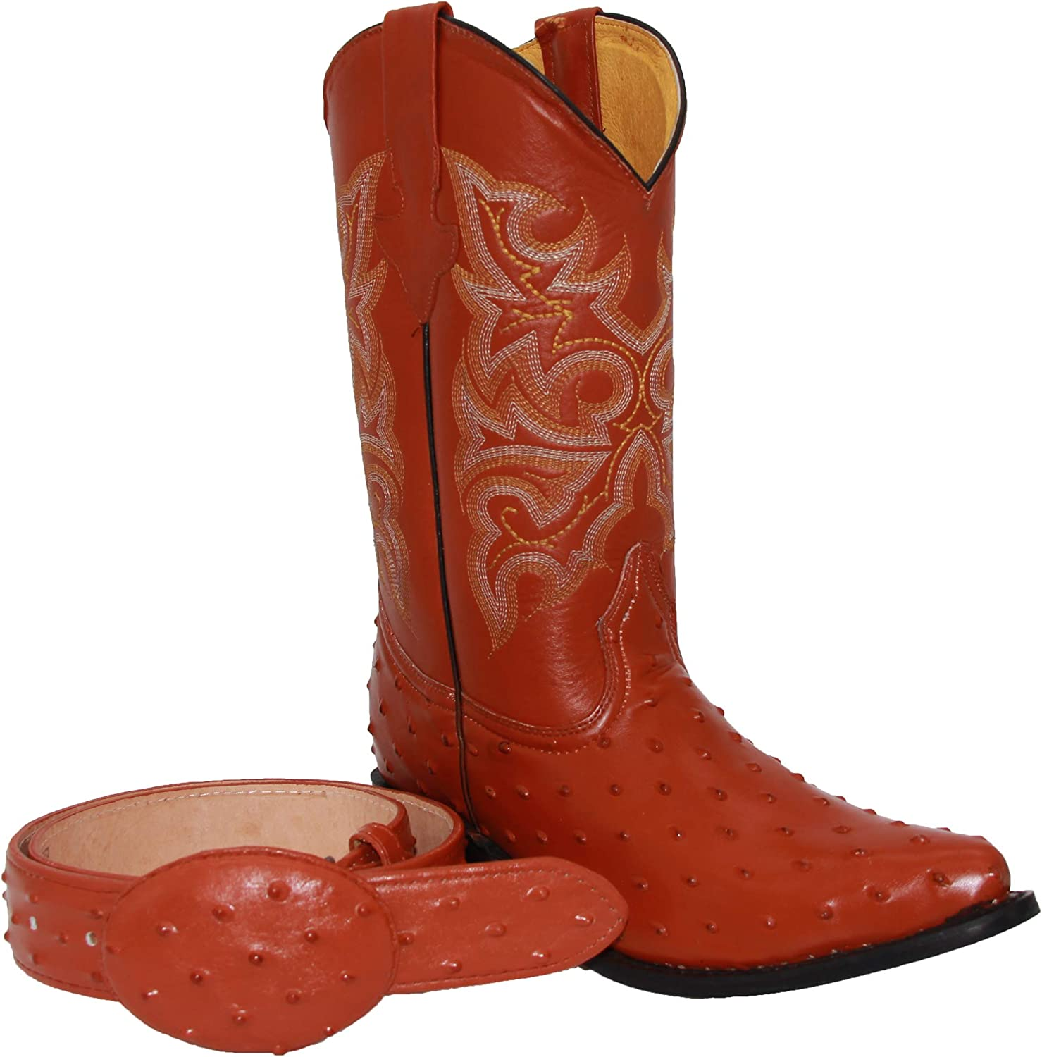 Western Shops Mens Leather Cowboy Boots Challenge the lowest price of Japan Embossed Quill P Opening large release sale Ostrich