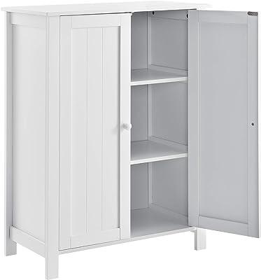 [en.casa]®] Mueble de baño - 80x60x30cm - Blanco - Armario
