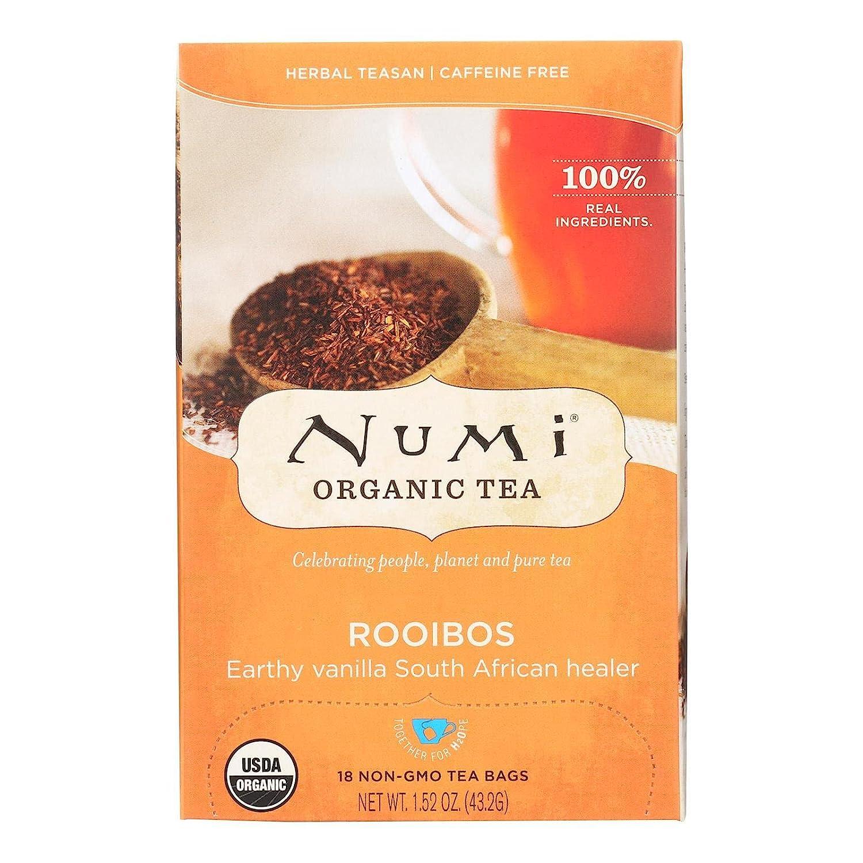 Numi Tea New mail order Organic Max 41% OFF Rooibos 6x18 Herbal Herb BAG