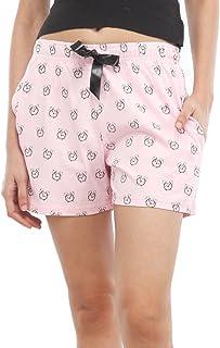 NITE FLITE Women's Snooze O' Clock Printed Cotton Shorts