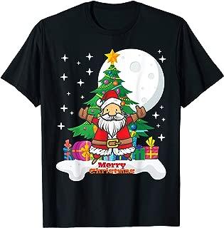 Santa Claus Merry Christmas Tree Gifts Funny T-Shirt