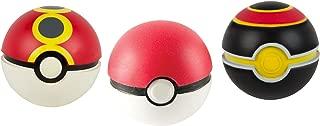 TOMY Pokémon Throw N Catch Poké Balls, Poké Ball, Repeat Ball & Luxury Ball Foam Ball Toys