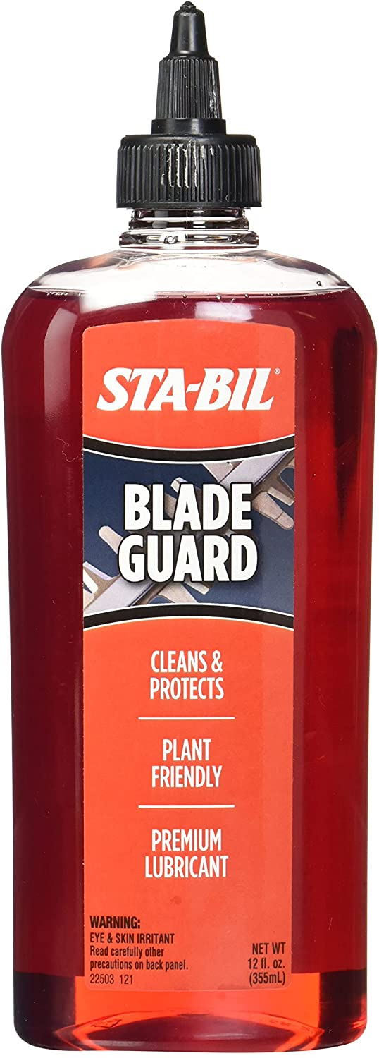 STA-BIL Blade Guard - Cleans and Protects from Sap and Resin - Premium Blade Lubricant - Reduces Blade Wear and Tear - Plant Friendly, 12 fl. oz. (22503)