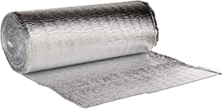16 Inch x 50 Feet Heat Reflective Insulation Roll - Premium Reflective Aluminum Thermal Insulation Roll with Foam Core for Walls, Attics, Air Duct Insulation, Windows, Radiators. HVAC and Garages