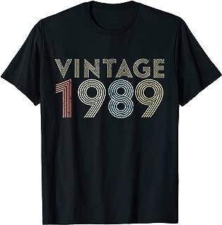 Retro Vintage 1989 TShirt 30th Birthday Gifts 30 Years Old