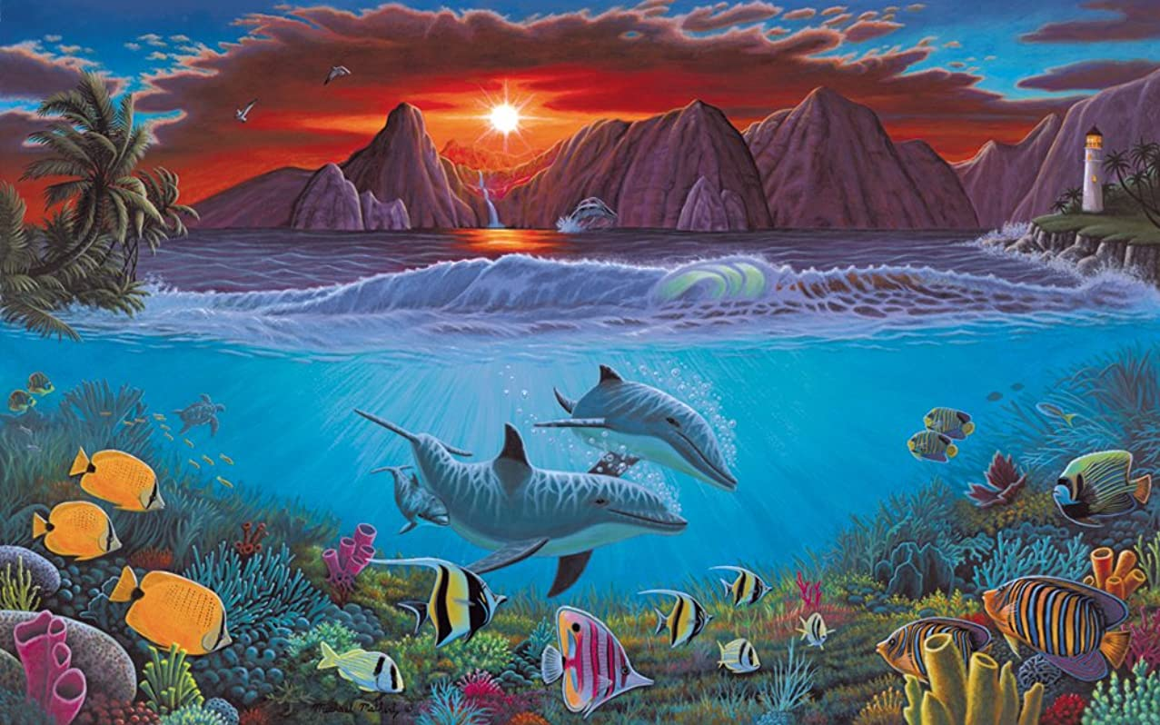 Royal & Langnickel PAL20 Painting by Numbers Adult Large Art Activity Kit, Ocean Life