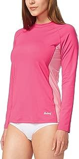 Baleaf Women's Long Sleeve Sun Protection Splice Rashguard Swim Shirt Back Pocket