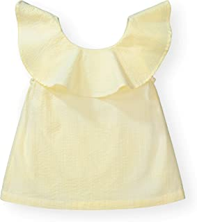 Hope & Henry Girls' Ruffle Top with Bow
