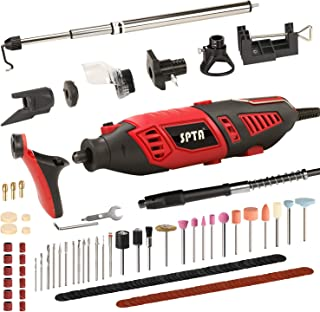 SPTA Professional Variable Speed Rotary Tool Kit with Heavy Duty 170W/1.4A Electric..