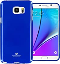 Goospery Pearl Jelly for Samsung Galaxy Note 5 Case with Screen Protector Slim Thin Rubber Case (Navy) NT5-JEL/SP-NVY