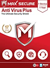 Max Secure Software Antivirus Plus for PC 2019 | 1 Device | 1 Year (Activation Key Card)