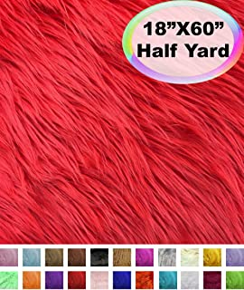 faux fur fabric red