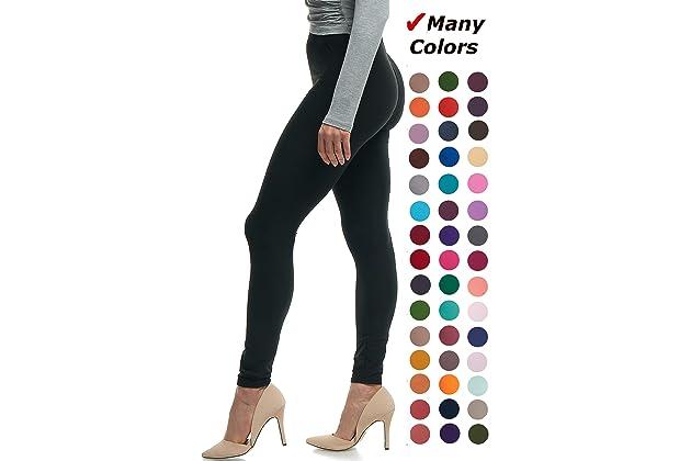 a606641ba38 LMB Women's Ultra Soft Leggings Stretch Fit 40+ Colors - One Size - Plus  Size