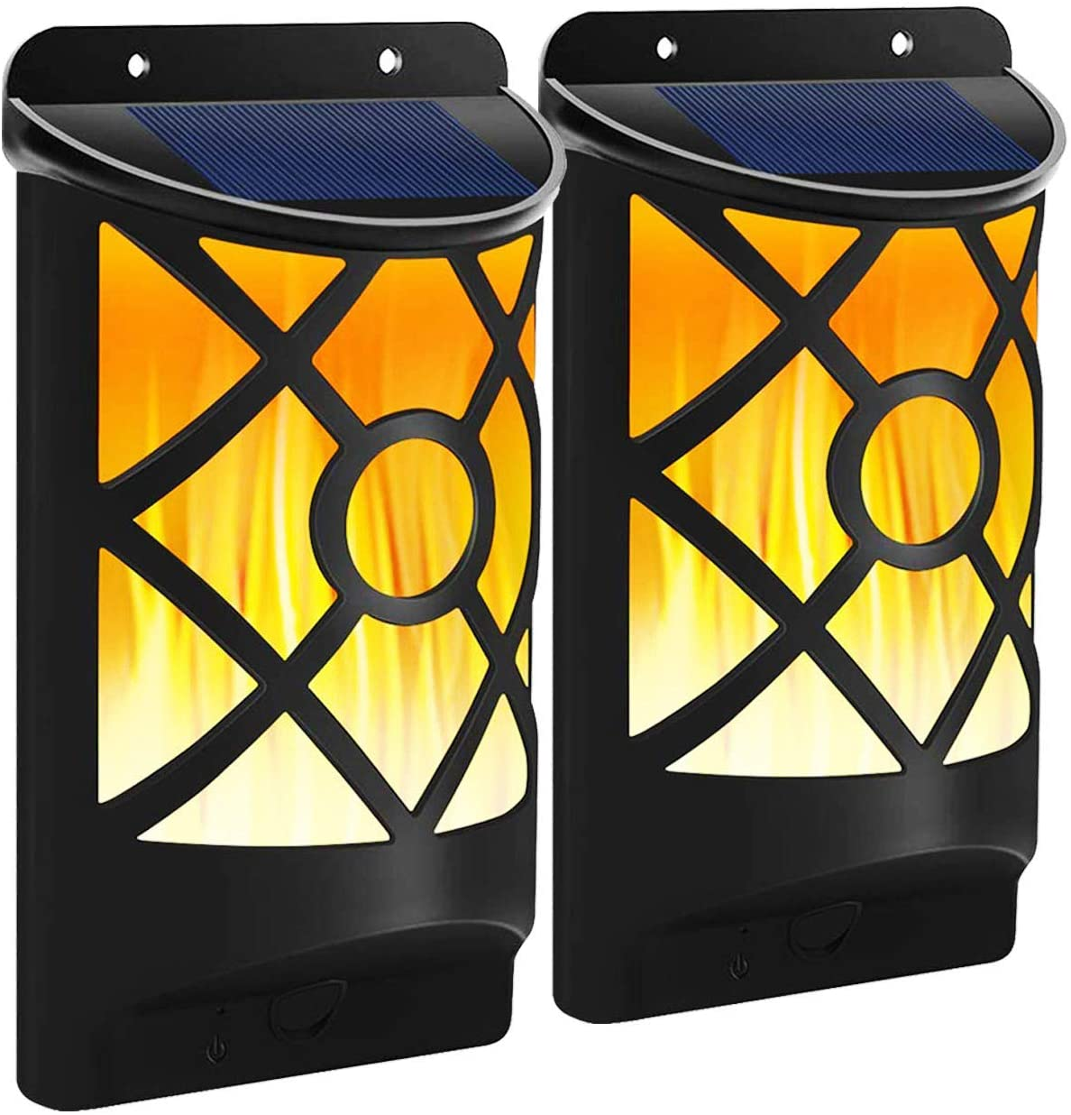 New Max 63% OFF mail order Fitybow Solar Flame Lights Flickering Waterproof Outdoor