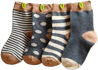 2 paia di calzini spessi antiscivolo con impugnature termiche alla caviglia calzini invernali caldi per bambini da 1 a 3 anni blu 2Pair=Blue+Purple 36 mesi
