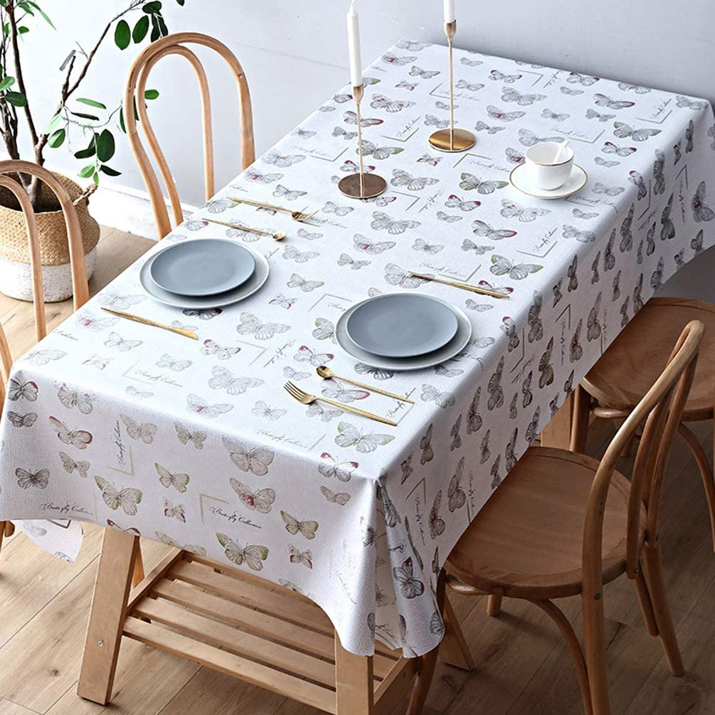 LEMON. Floral Pattern Tablecloth Washable PVC Waterproof Ta ついに再販開始 100% 入手困難