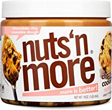 Nuts 'N More Chocolate Chip Cookie Dough Peanut Butter Spread, All Natural High Protein Nut Butter Healthy Snack, Omega 3'...