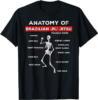 Brazilian Jiu Jitsu Anatomy T-Shirts Grappling Shirt,BJJ MMA