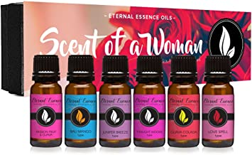 Scent of A Woman Gift Set of 6 Premium Fragrance Oils – Guava Colada Type, Twilight..