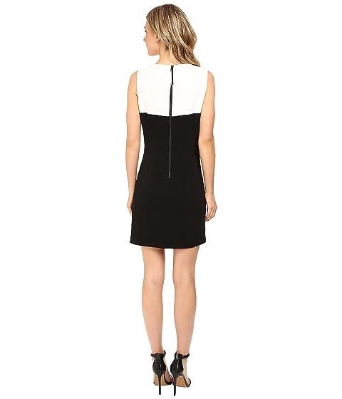 Sleeveless w Segal Laundry Dress Color Zipper by Shelli Blocked Fringe RwqxnCXZSx