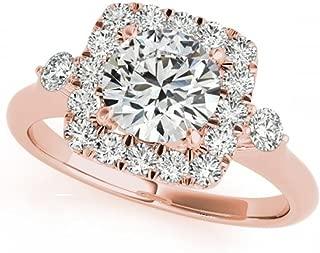 1 Ct. Ttw Multistrand Head Diamond Engagement Ring 14 Rose Gold