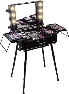 SHANY Studio ToGo Wheeled Trolley Makeup Case & Organizer with Light - BLACK