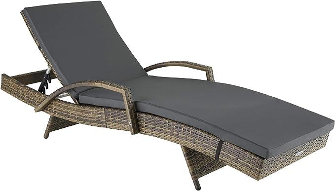 275 opinioni per TecTake 800691- Lettino Prendisole in Rattan, Alluminio, Resistente alle
