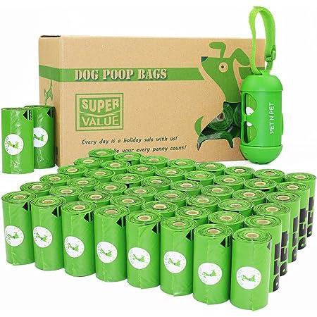 PET N PET Bolsas de caca para perros con 720 bolsas de basura ecológicas con 1 dispensador de bolsas de caca biobasadas para perros grandes, sin perfume, estándar y aditivo EPI