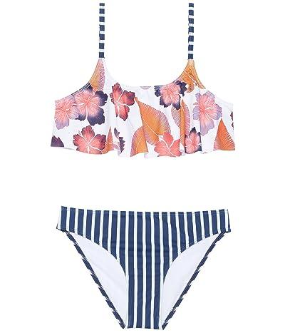 Roxy Kids Girl Go Further Flutter Set Swimsuit (Big Kids)