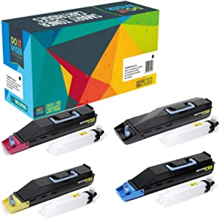 Do it Wiser Compatible Toner Cartridge Replacement for Kyocera TK-867 Kyocera TASKalfa 250ci TASKalfa 300ci - (Black Cyan Magenta Yellow, 4-Pack)