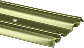 Prime-Line Products N 6879 By-Pass Mirror Door Bottom Track, 48 in., Roll-Formed Steel, Champagne Gold Finish