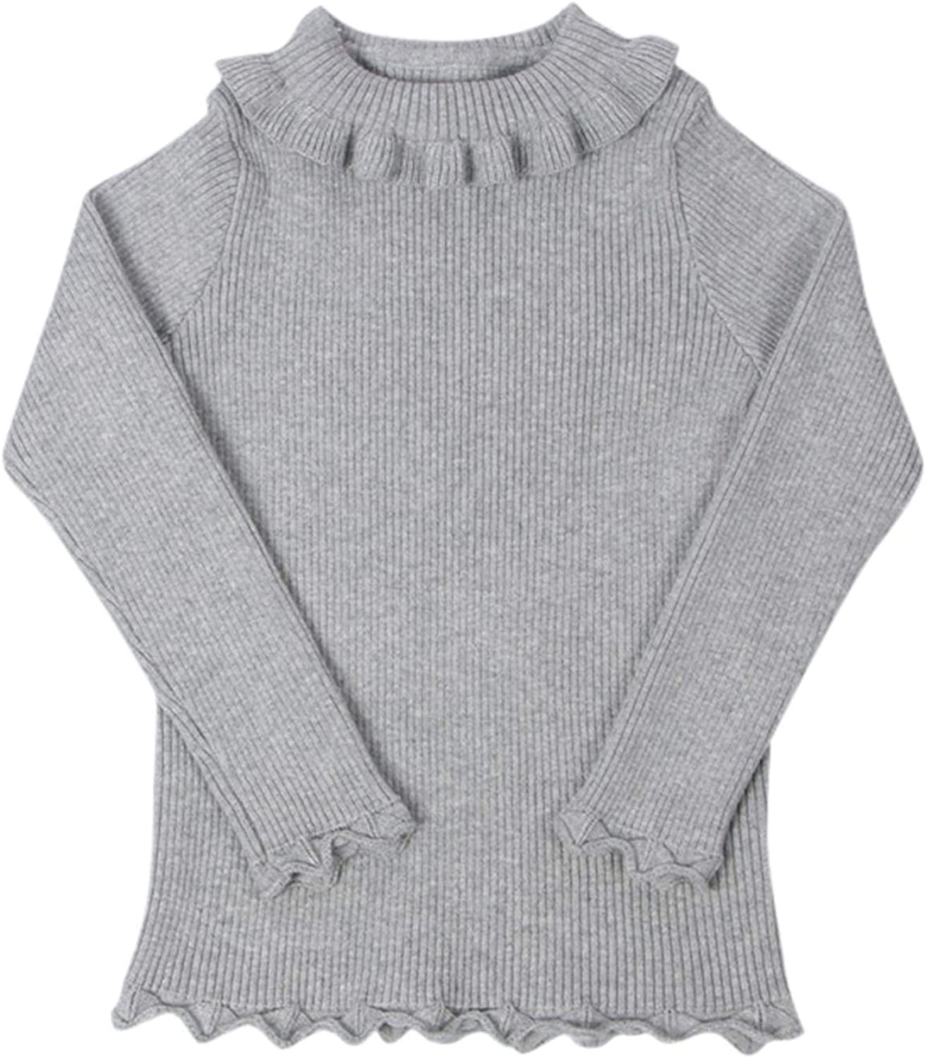 Max 63% OFF Lingery Kid Outfit Toddler Kids Knit Swe Turtleneck Baby Ruffles Large special price