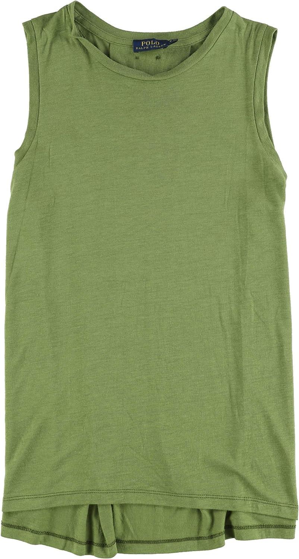 Ralph Lauren Womens Basic Tank Top, Green, Small