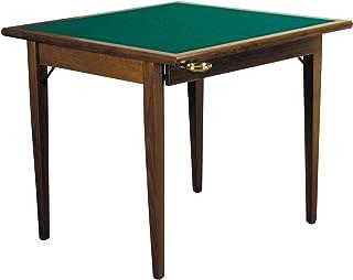 Sconosciuto Table de Jeu Poker 90 Noce (Finitura Del Legno)