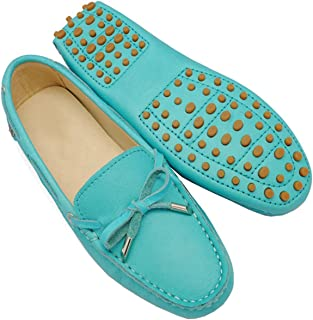 a7c832a9f25 Minishion Girls Womens Nubuck Leather Slip-On Fashion Casual Moccasins  Flats Loafers Driving Shoes