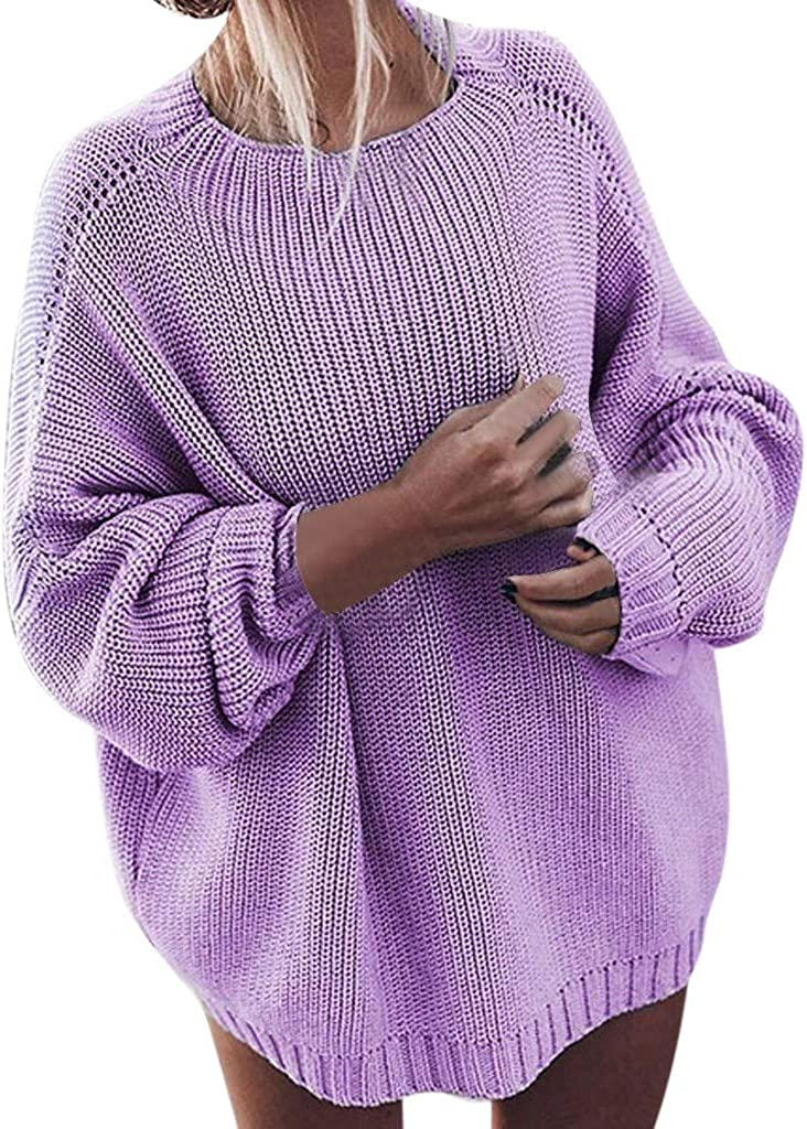 Now on sale XUETON Womens Autumn San Antonio Mall Winter Long Cr Solid Sleeve Sweater Fashion