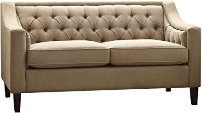 ACME Suzanne Beige Fabric Loveseat