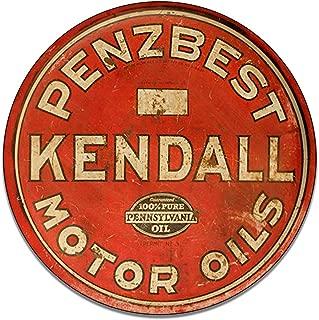 Brotherhood Penzbest Kendall Motor Oils 100% Pure Pennsylvania Oil Gasoline Petroleum Products Reproduction Car Company Garage Signs Metal Vintage Style Decor Metal Tin Aluminum Round Sign Home Decor
