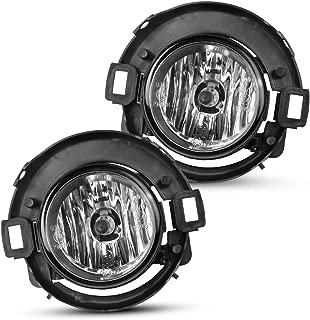 Fog Lights Compatible for 2005-2015 Nissan Xterra,With H11 12V 55W Halogen Lamp Clear Glass Lens