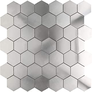 Black Brushed Tile Center 18 x 12 inch Metal Wall Cross