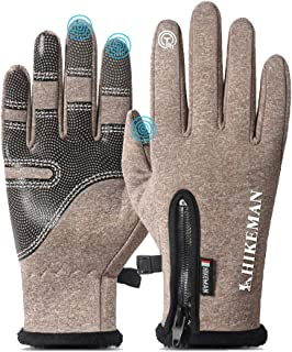Winter Gloves with Touch Screen Fingers, Texting Ski Gloves Waterproof and Warm, Touchscreen Gloves for Women Men