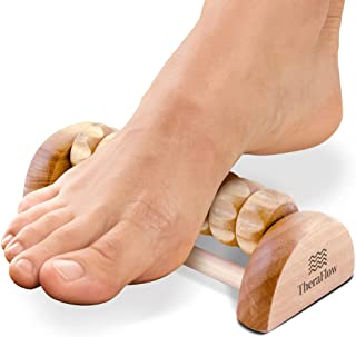 TheraFlow Foot Massager Roller - Relieve Foot Arch Pain, Plantar Fasciitis, Muscle Aches, Soreness. Stimulates Myofascial ...