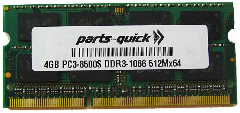 4GB Memory for Apple PC3-8500 1067MHz DDR3 MAC RAM SODIMM 204pin (PARTS-QUICK BRAND)